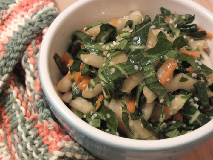 Asian Bok Choy Salad with Sesame Dressing (Vegan)