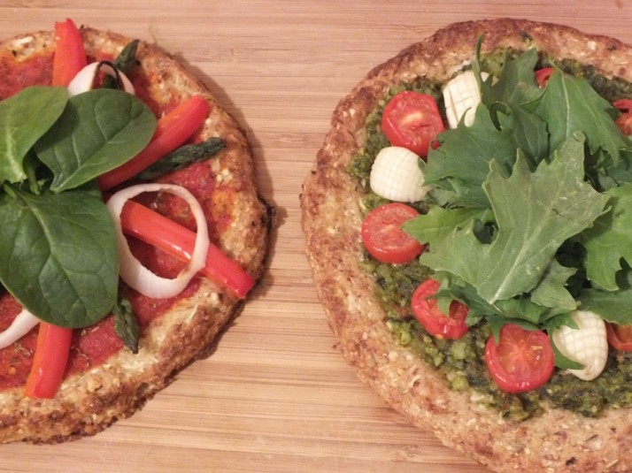 Crispy Cauliflower Crust Pizza